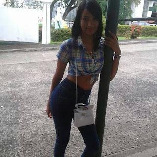Chica morena de panama