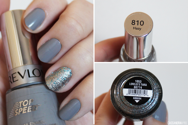NOTD // Revlon Top Speed Hazy + China Glaze Lorelei's Tiara - CassandraMyee