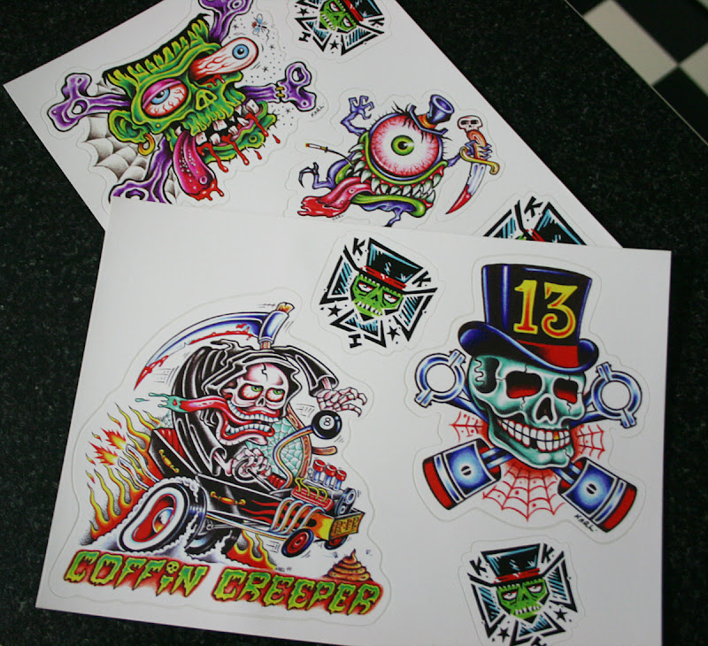Karl Kaufmann low brow monster stickers title=