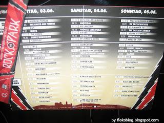 Lineup Rock im Park 2011