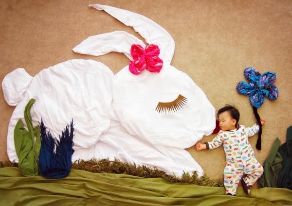 Dormir Adorable Bébé Rêve Paysages