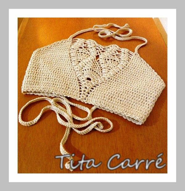 Top Opala em crochet