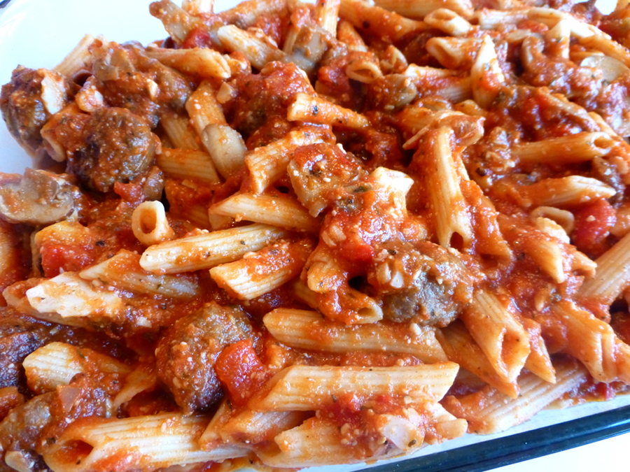 ... Korner: Baked Pasta with Roasted Red Peppers Tomatoes and Sausage