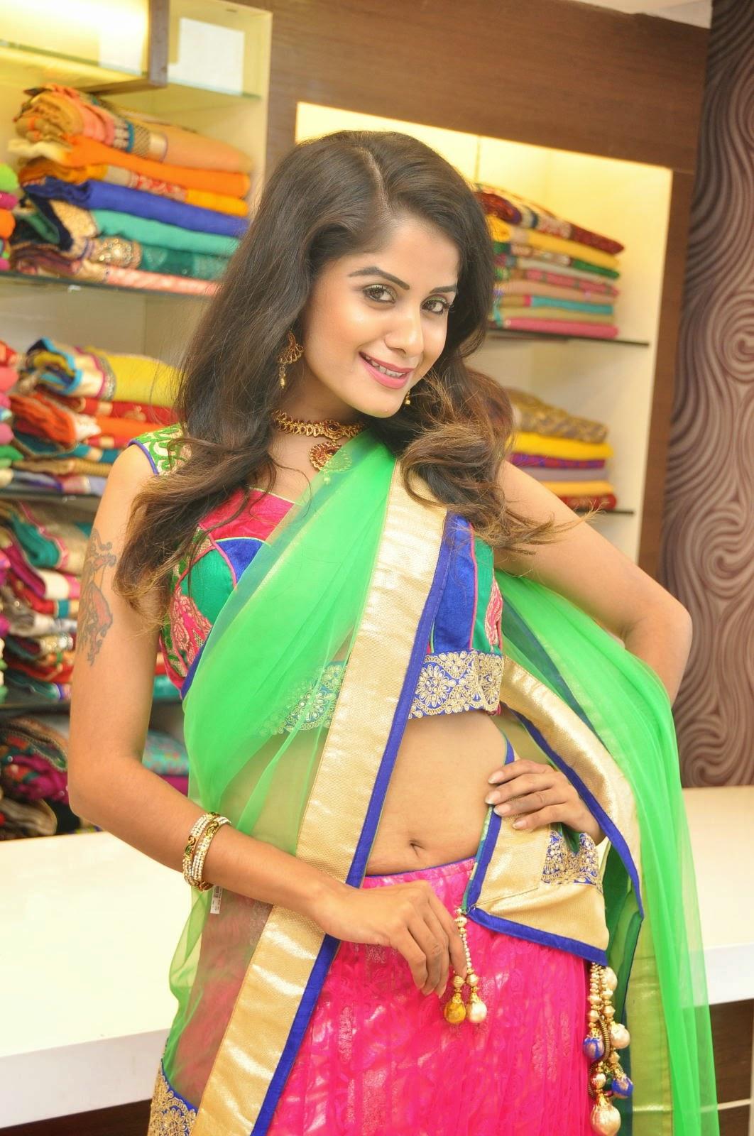 Anukruthi Glam pics in half saree-HQ-Photo-2