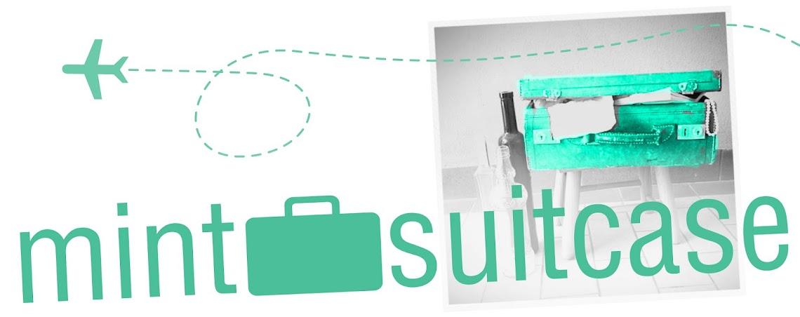 mint suitcase