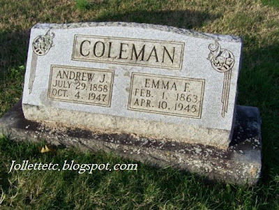 Jack and Emma Jollett Coleman, Coverstone Cemetery, Shenandoah, Virginia