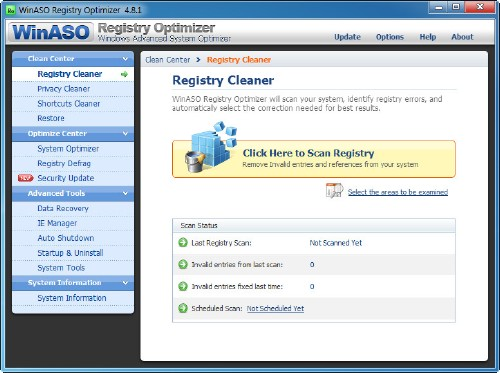 WinASO Registry Optimizer 4.8.2