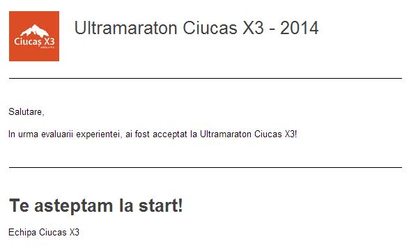 Am fost acceptat la ultramaraton Ciucaş X3. Programul evenimentului