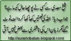 urdu hikayaein, danai ki batain, sunehri batain