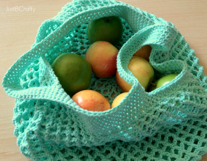 Crochet Grocery Bag : Crochet Mesh Grocery Tote Pattern