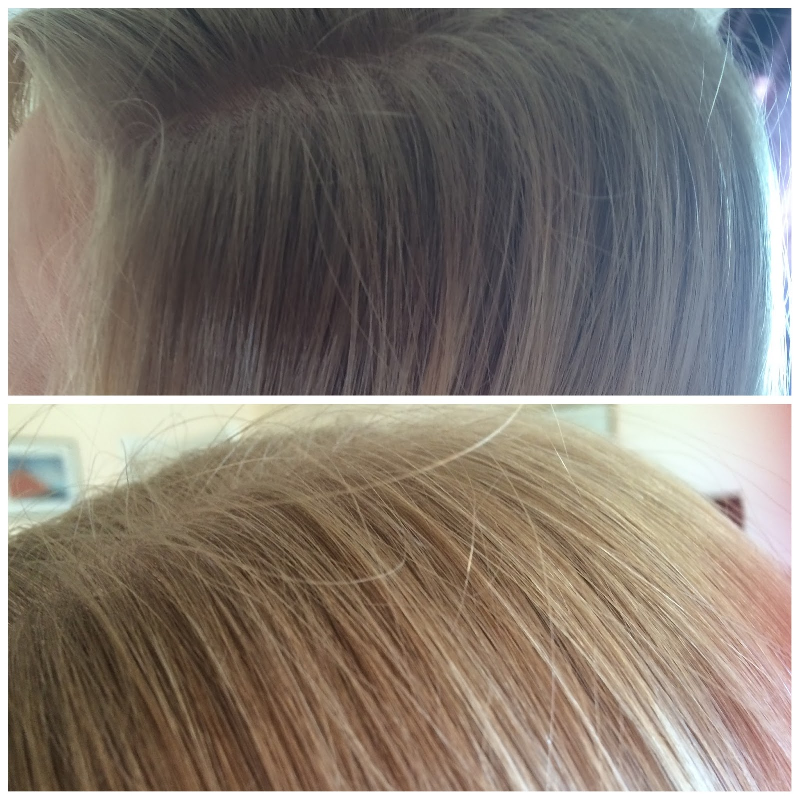 Jerome Russell Bblonde Lightening Spray - before and after