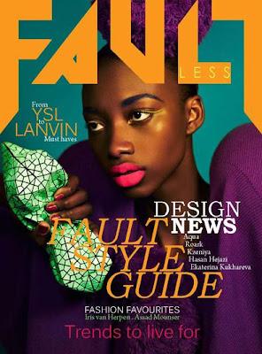 >Georgie Badiel en couv' de Fault Magazine Summer 2011