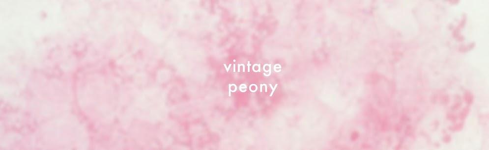 ''vintage  peony