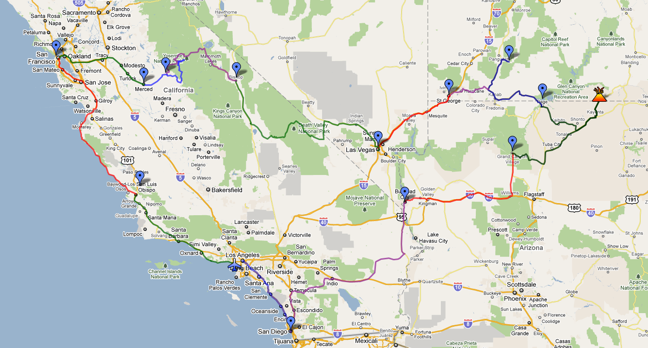Carnet De Route Usa Ouest Aout 2011