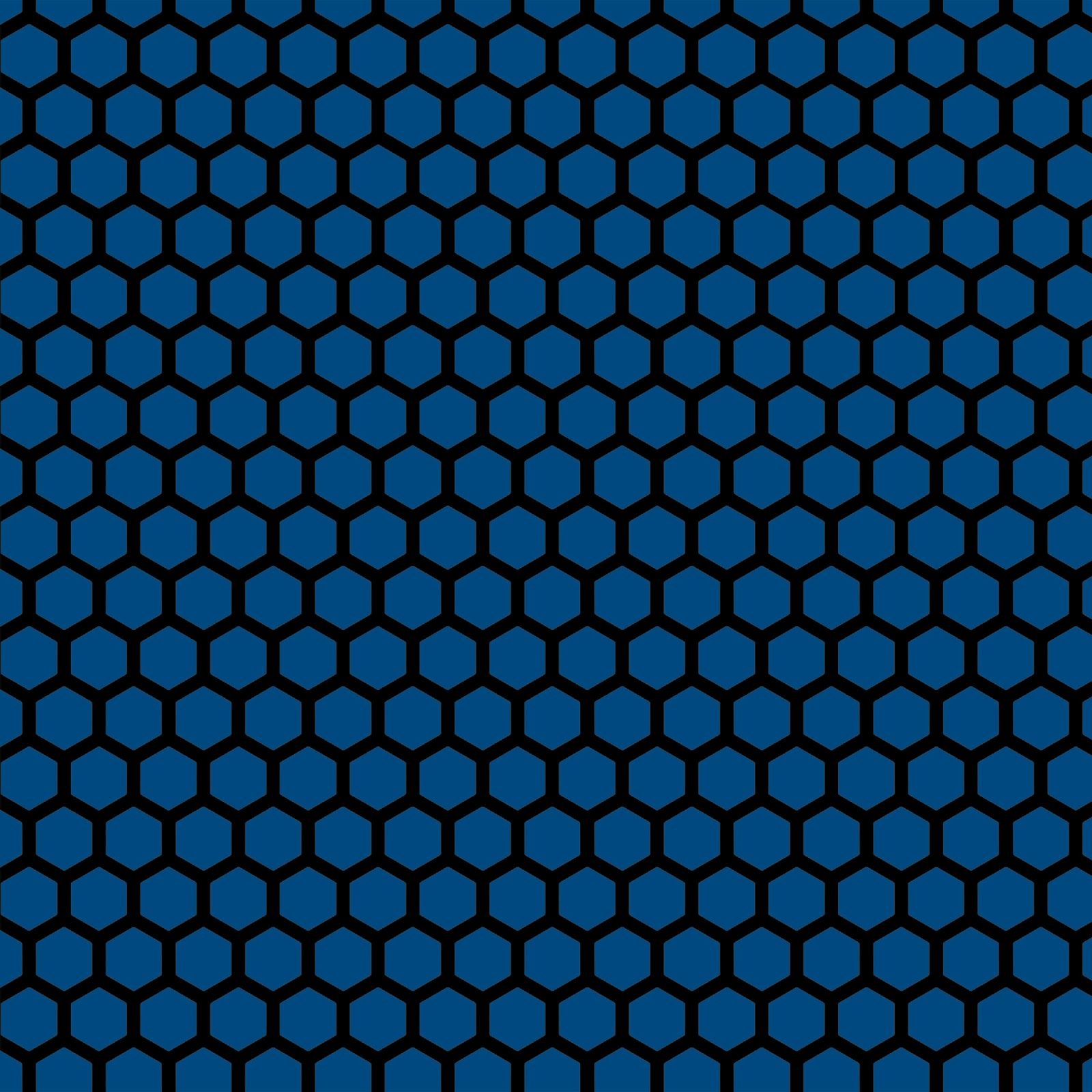 Blue hexagon wallpaper