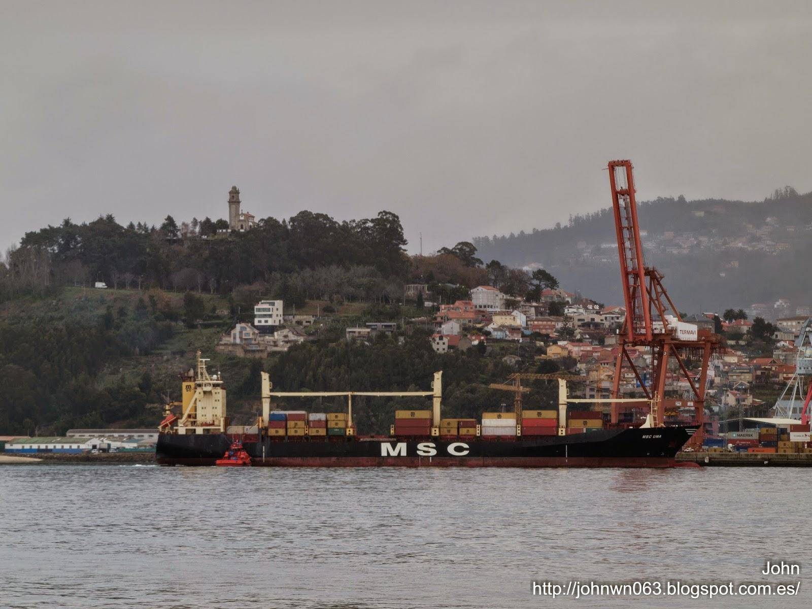 fotos de barcos, imagenes de barcos, msc uma, msc, vigo