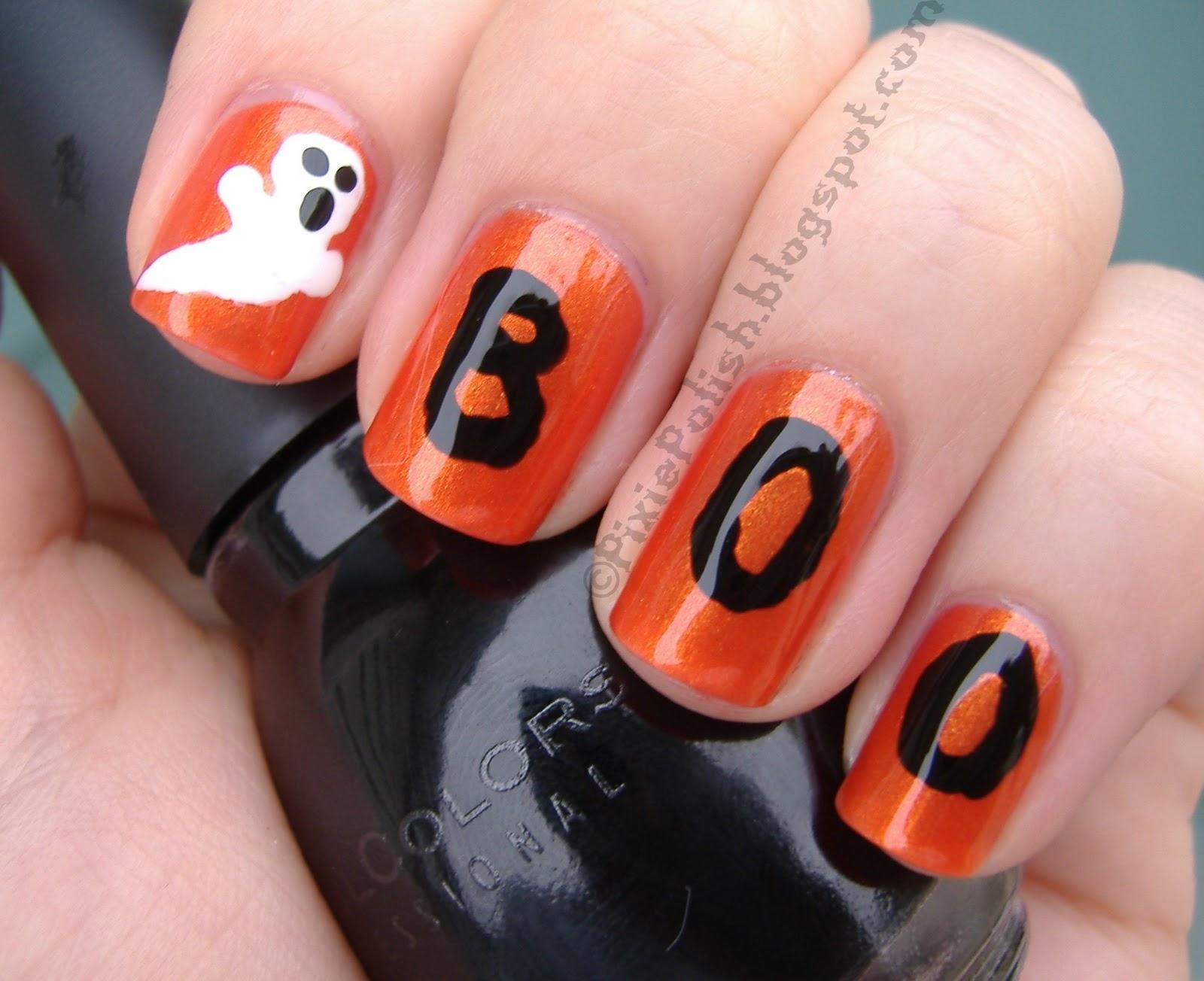 Halloween nails art design nail designs hair styles tattoos and fashion heartbeats - Nail art halloween ...