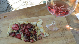 2014 Featherstone Rosé paired with Strawberry and Mozzarella Pizza
