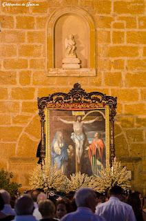 Cristo de Chircales a su salida de la Iglesia.