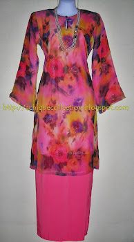 Customer : Puan Khairiah - Tempahan Baju Kurung Moden