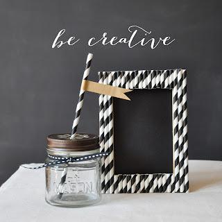 paper straw frame tutorial on Creative Bag's Blog