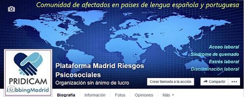 """PRIDICAM Mobbing Madrid : Nueva """"Página de Facebook"""", visitala y participa"""
