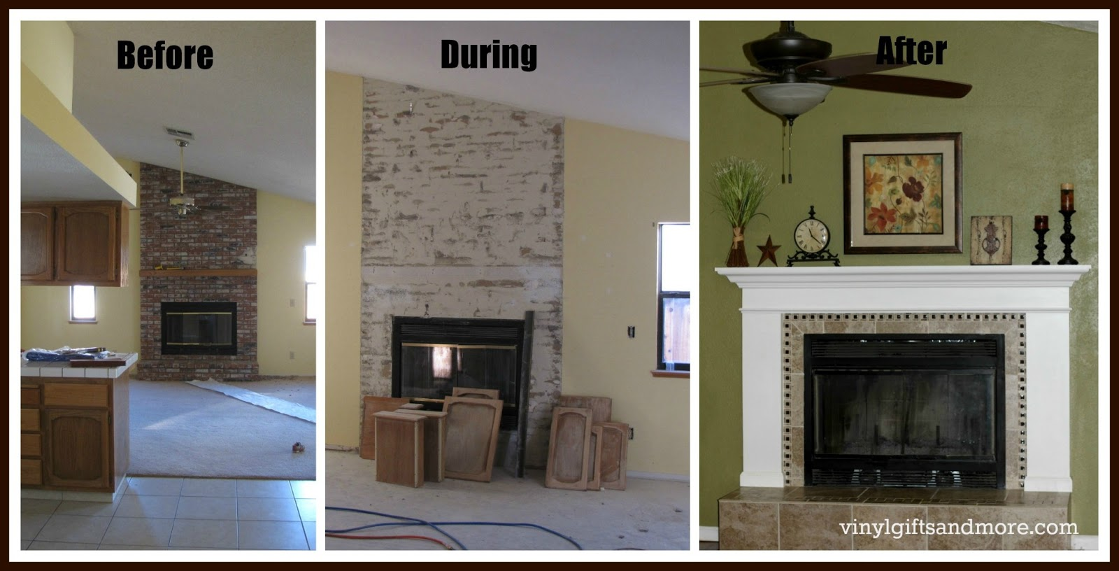 Super saturday crafts fireplace remodel for How to redesign your house