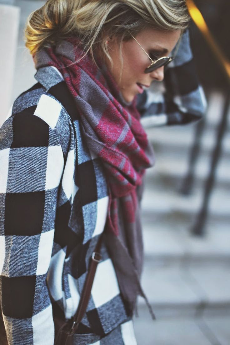 mixing plaids fall & winter fashion