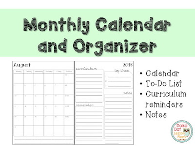 https://www.teacherspayteachers.com/Product/Teacher-Calendar-and-Organizer-2000333