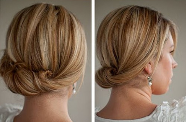 Свадебная прическа на тонкие редкие волосы средней длины