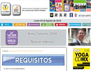 Niños Talento 2014 Inscripciones - Calendario
