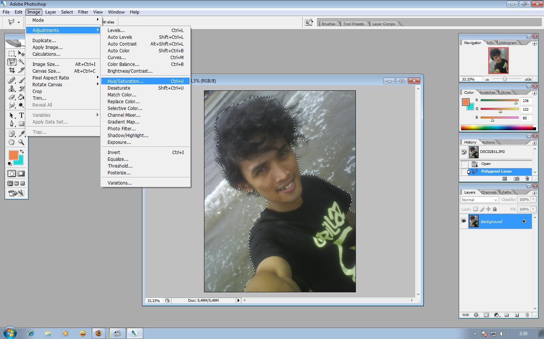 Cara menerangkan foto dengan photoshop cs2