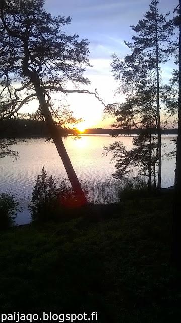 mökkielämää: auringonlasku