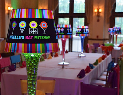Custom Bat Mitzvah Lampshade