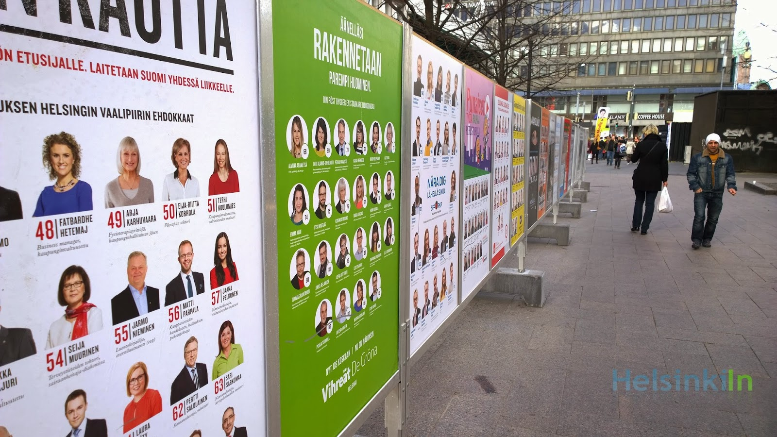 party advertisements in the city center
