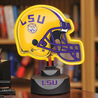 LSU Tigers NCAA Neon Helmet Lamp