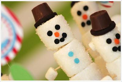 Sugared Marshmallow Snowman