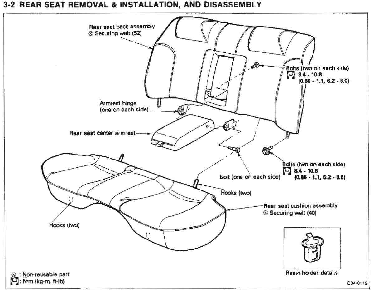 ford transit seat diagram