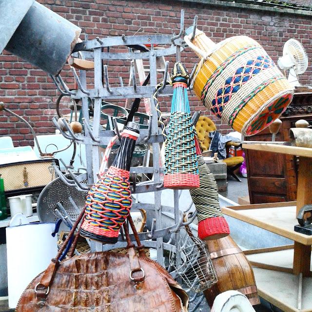 Bouteilles scoubidou / Brocante Amiens / Octobre 2015 / Photos Atelier rue verte /