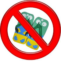 bahaya sandal jepit