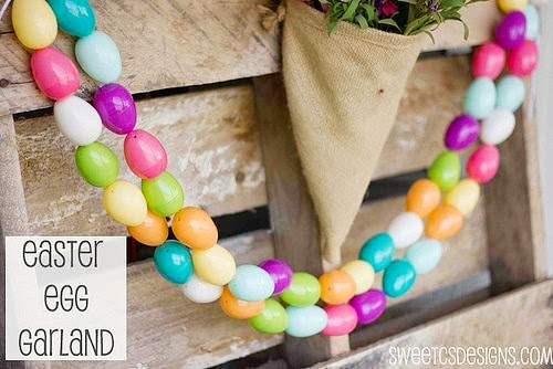 Easter Egg Garland Tutorial by Sweet C's Designs