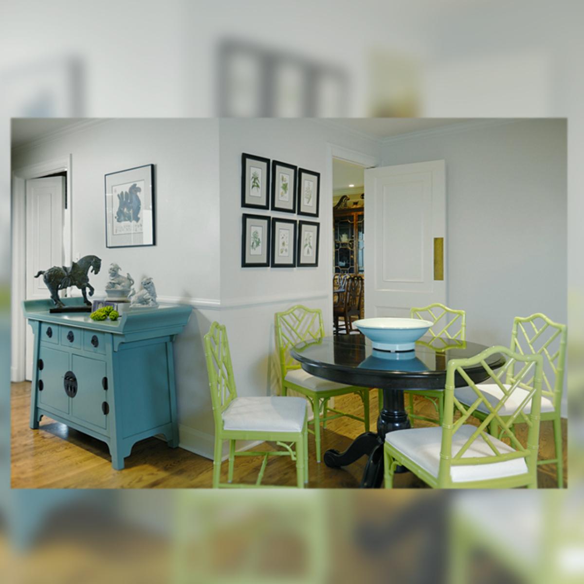 Decoraci n interior en verde azul y gris la musa decoraci n - Decoracion actual de interiores ...