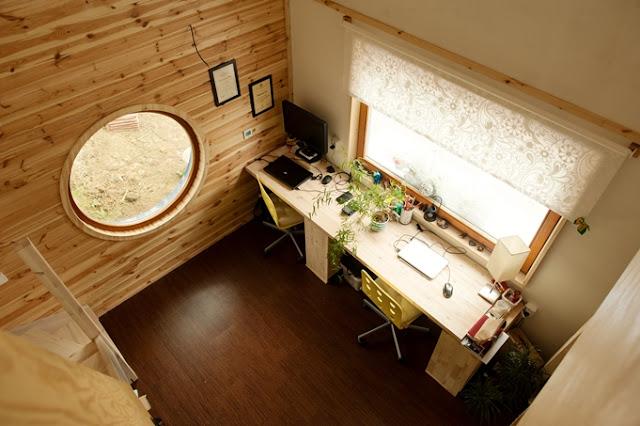 mobilný,drevo,dom,prirodne materialy, ekologia,permakultura, interier