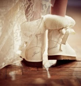 Just Married Bridal Boots
