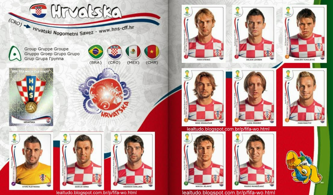 Album HRVATSKA - CROACIA Fifa World Cup BRAZIL 2014 LIVE COPA DO MUNDO Sticker Figurinha Download Lealtudo