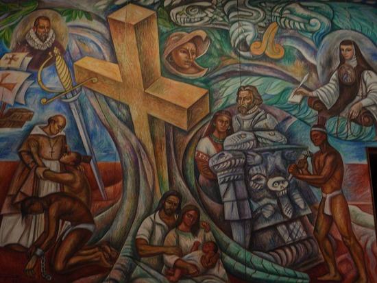 Blablabla en colores botin de guerra for Diego rivera la conquista mural
