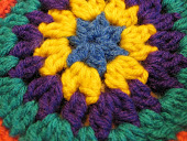 Crocheted Mandala Prayer Flag