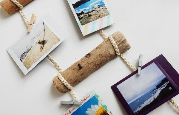 DIY : porte photos en bois flotté