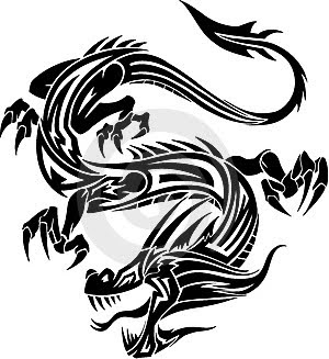 Simple Dragon Tattoos For Men