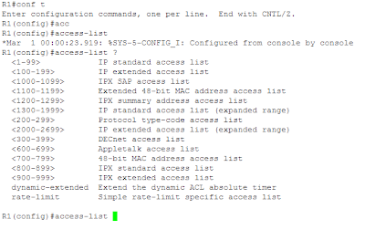Cisco's Access Control List